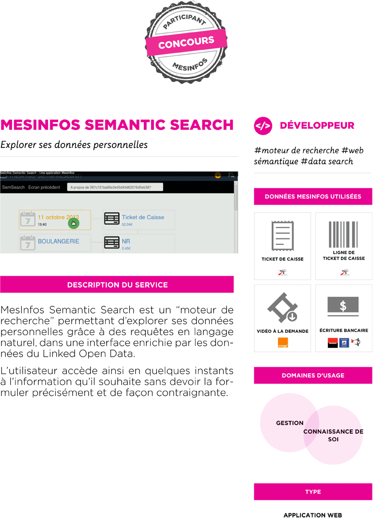 Fiche service prototype MesInfos Semantic Search